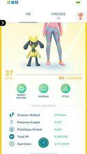 Pokemon compte aller niveau 37