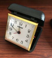 Vintage Equity Gold Small Analog Mechanical Box Winding Watch Alarm Clock