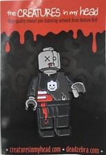 ZOMBIE LEGO ROBOT ENAMEL LAPEL PIN CREATURES IN MY HEAD/DEAD ZEBRA ANDREW BELL