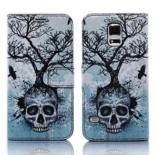 Skull Handy Tasche Samsung Galaxy S5 mini SM-G800F Hülle Cover Case Etui Bag 009