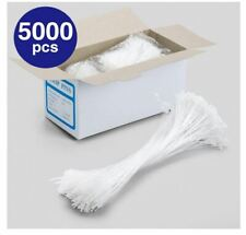 """Syntrific 5000pcs 5"""" Clear Snap Loop Pin Security Loop Plastic Tag Fasteners"""