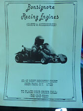 Vintage Bonsignore racing engine Karts and accessories catalog