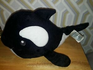 Build A Bear Workshop Rare Large Orca Killer Whale Soft plush Plush rare vgc