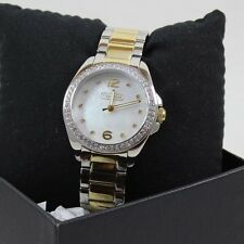 NEW AUTHENTIC COACH TRISTEN CRYSTALS SILVER GOLD WOMEN'S 14501659 WATCH