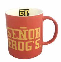 Senor Frogs Nassau, Bahamas Red 8 oz Ceramic Collectible Coffee Cup Mug EUC