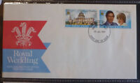 1981 NEW ZEALAND ROYAL WEDDING CHARLES & DI SET 2 STAMPS FDC FIRST DAY COVER