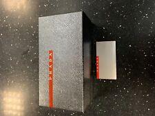 Prada Sunglasses Box Silver Red Logo Gift Empty Hard Storage  - Free Postage