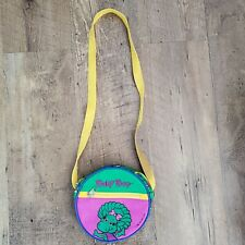 Vintage 1992 Baby Bop Purse Barney and Friends Small Round Green Purple Yellow