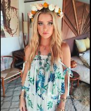 Show Me Your Mumu Nicola Wisteria Floral Off Shoulder Maxi Dress, Small
