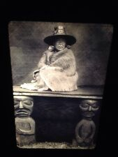 "Edward Curtis ""Chief's Daughter Nakoaktok Native American photography 35mm slide"