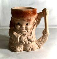 "McCoy Brush Davy Crockett 4 3/4"" Mug"