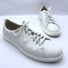 Cole Haan Crosscourt II Men White Leather Sneaker Shoe Size 9M Pre Owned