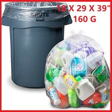 More details for clear large strong plastic polythene bin liners waste bags sacks18