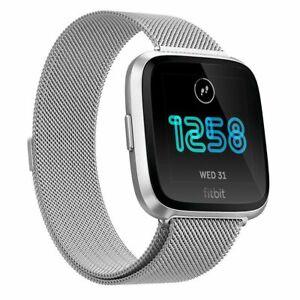 For Fitbit Versa 2 Milanese Magnetic Loop Metal Strap Stainless Steel Wrist Band