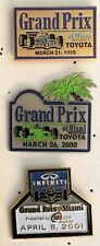 Grand Prix Miami Racing Lapel Hat pin lot 0f 3