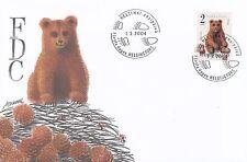 Finland 2004 FDC - Brown Bear Cub - Ursus arctos - Fauna - Issued March 1, 2004
