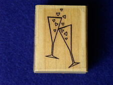 A Toast D5300A The cats pajamas I Love you Anniversary Celebrate Rubber Stamp