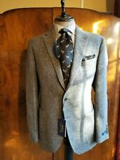 NWT Polo Ralph Lauren Grey Tweed Wool Sport Coat Jacket Blazer 44R Patch Pocket