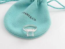 Tiffany & Co Silver Picasso Rock Crystal Quartz Sugar Stack Ring Size 6!