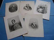 LOT 5 PORTRAITS PERSONNALITÉS POLOGNE 1840 POTOCKI BIELINSKI ZAMOYSKI SOLTYK