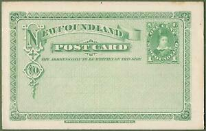 Newfoundland 1 Cent Green Postal Stationery c1890. Excellent Condition.
