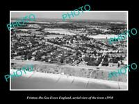 OLD LARGE HISTORIC PHOTO OF FRINTON ON SEA ENGLAND, AERIAL VIEW OF TOWN c1950 1