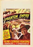 The Phantom Empire Poster Belgian Poster Gene Autry OLD MOVIE PHOTO