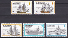 ALDERNEY - 1990 - Royal Navy Ships. Complete set, 5v. Mint NH