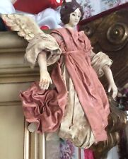 Vintage 'Cartapesta Style' Fabric Cloth Angel, Maybe Clothtique?