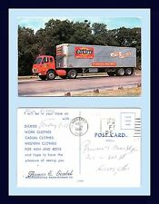 OHIO DOVER DICKIE'S SEMI TRUCK ADVERTISING POSTCARD 3 AUG 1965 PRUNE'S MENS SHOP