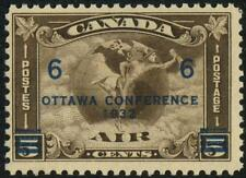 C4 CANADA Airmail 6c On 5c Brown OTTAWA SURCHARGE MNH $70 SEE PHOTOS Lot O-363