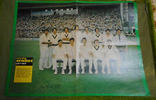 #T88.   1975-76 AUSTRALIAN CRICKET TEAM POSTER, FEW SIGNATURES