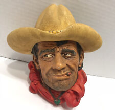 Vintage 1967 Bossons Rawhide 3D Chalkware Character Heads Wall Plaque