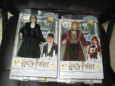 Mattel Harry Potter Dolls (2)  - Yule Ball Harry and Ron MIB