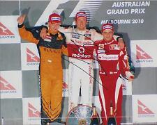 Jenson Button Podium F1 SIGNED Autograph 10x8 Photo British Champion AFTAL COA