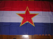 New listing Flag of Pre 1992 Socialist Republic of Croatia Sr Croatia Yugoslavia Ensign 3X5