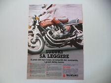 advertising Pubblicità 1979 MOTO SUZUKI GS 850