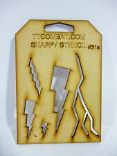 Wargames Imperial White Marine Space Scars Lightning Strike Snappy Stencils #31a