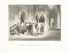 """Aubrey's """"HISTORY of ENGLAND"""" -Steel Eng. -1870- """"IN THE CRYPT OF ST. PAUL'S"""""""