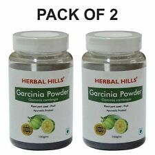 Herbal Hills Garcinia Cambogia Powder for Weight Loss - Pack of 2 - 100 g each