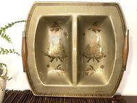 Mid Century Modern Georges Briard Serving Tray Gold Birds Inlay MCM tray VTG