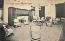 Ladies Sitting Room Masonic Homes Elizabethtown Pennsylvania Postcard (c. 1910)