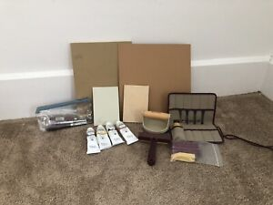 Lot Of Used And Unused Print Making Supplies
