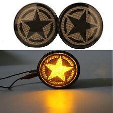 Five Stars Amber LED Front Turn Signals for 07-17 Jeep Wrangler JK & Unlimited