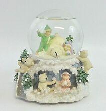 San Francisco Music Box Co.Christmas Musical Snow Globe Teddy Bear Children