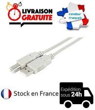 CÂBLE CORDON IMPRIMANTE USB A-B 2.0 3.00M (HP, BROTHER, CANON, LEXMARK, RICOH..)