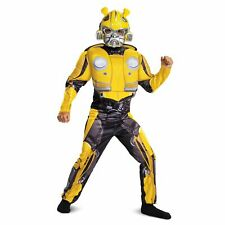 NEW Transformers Bumblebee Muscles 2 Piece Halloween Costume Boys Large 10-12
