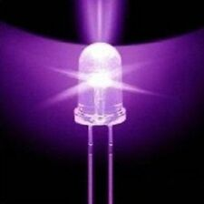 100pcs F5 5mm Round Ultra Violet LED UV Light 390-395nm Purple Lamp