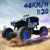 2.4G Off Road Remote Control Radio RC Car Toys Gifts 1/20 4WD Rock Crawler Truck