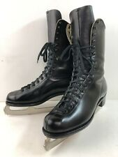 VTG BETTY LYTLE BY HYDE CLEVELAND RARE BLACK ICE SKATES 8.5 Women